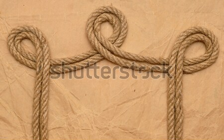 rope on old paper Stock photo © inxti