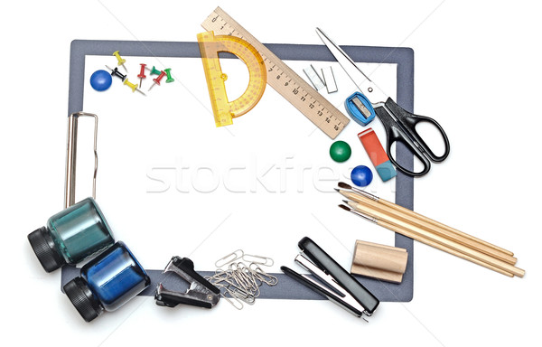 office and student tool over white background  Stock photo © inxti