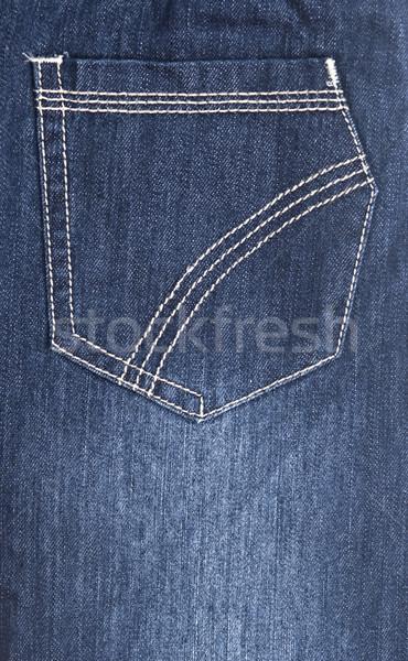 Jeans zak mode achtergrond Blauw Stockfoto © inxti
