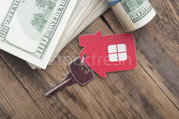 дома ключами сто доллара Сток-фото © inxti
