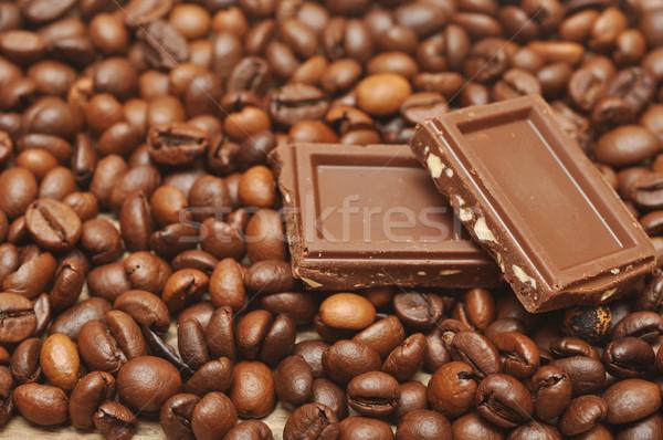Kávébab csokoládé bár eszik Stock fotó © inxti