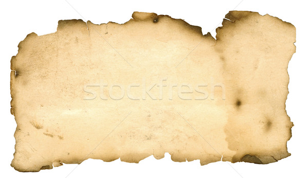 blank grunge burnt paper with dark adust borders  Stock photo © inxti