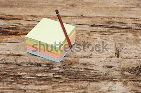 Photo stock: Vide · panneau · de · liège · coloré · note · papiers