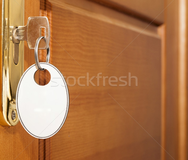 open door with key Stock photo © inxti