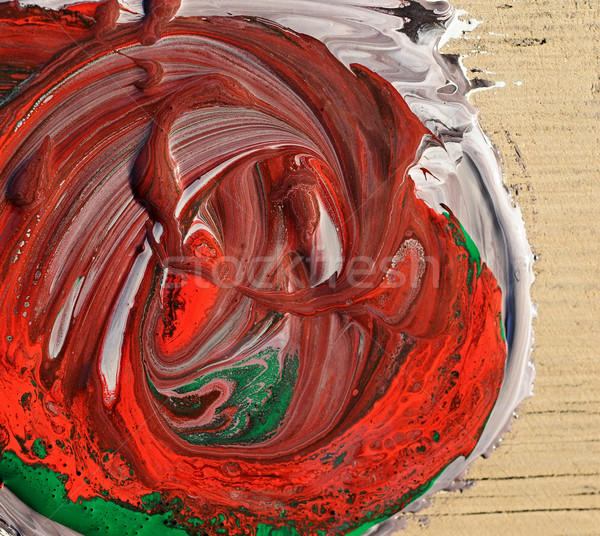 mixed oil colors, abstract background  Stock photo © inxti