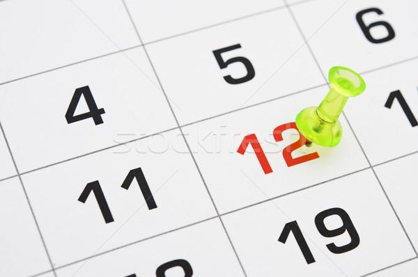 Calendrier temps date limite courir Photo stock © inxti