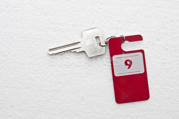 Hotel suite key with room number 9  Stock photo © inxti