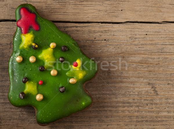 Christmas cookies houten tabel winter dessert Stockfoto © inxti
