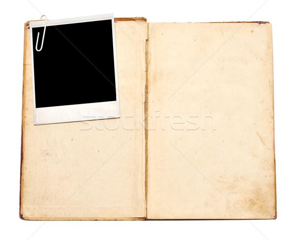 старые книги Vintage фото белый книга ноутбук Сток-фото © inxti