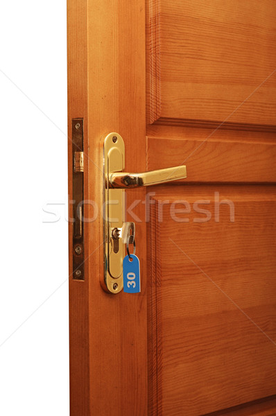 open door with keys Stock photo © inxti
