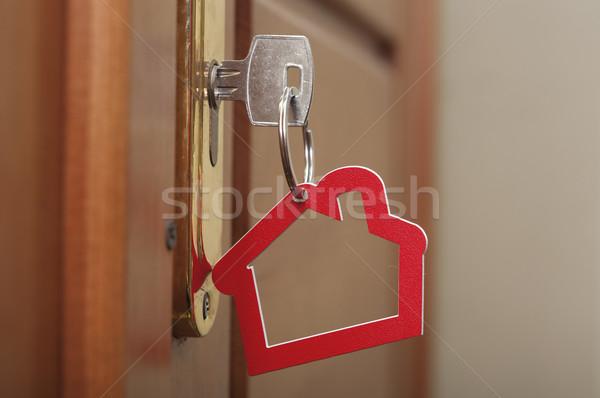 Foto d'archivio: Chiave · lock · casa · icona · costruzione · porta