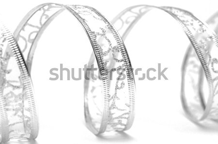 silver ribbon serpentine on a white background  Stock photo © inxti
