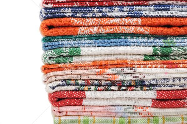 Zdjęcia stock: Kuchnia · ręczniki · biały · przestrzeni