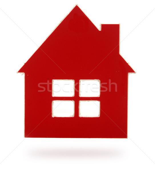 Zdjęcia stock: Czerwony · plastikowe · domu · obiektu · budynku