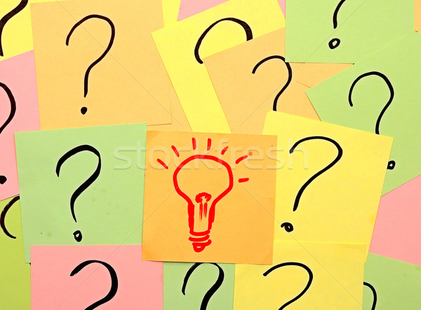 idea light bulb out of problems  Stock photo © inxti