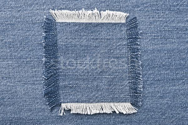 Stockfoto: Denim · textuur · Blauw · weefsel · antieke · textiel