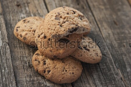 Oatmeal cookies with raisins on vintage wooden background  Stock photo © inxti