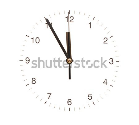 wall clock isolated on white background showing time  Stock photo © inxti