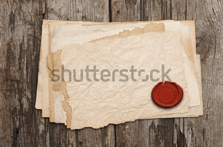 Old paper with a wax seal  Stock photo © inxti