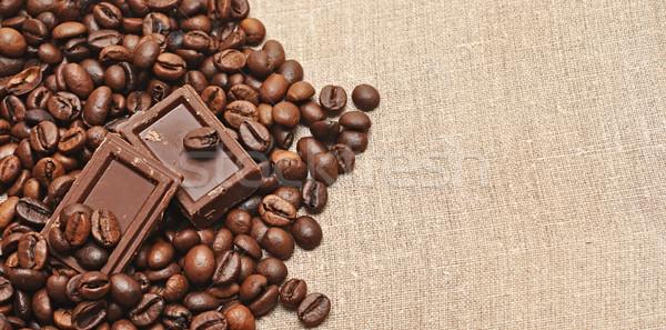Kahve çekirdekleri çikolata kahve kafe siyah enerji Stok fotoğraf © inxti