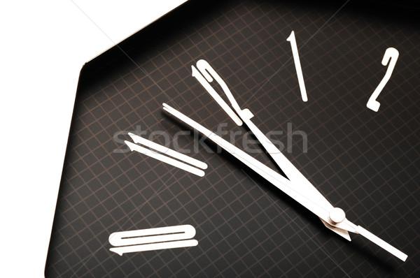 Negro pared reloj dos doce Foto stock © inxti