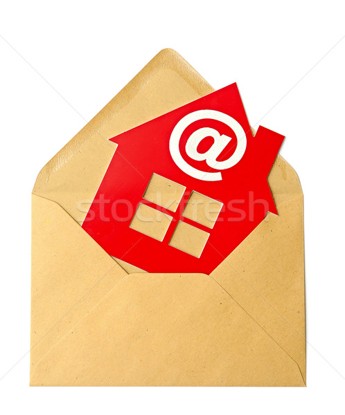 E-Mail and Home Symbol, concept of online Real Estate  Stock photo © inxti
