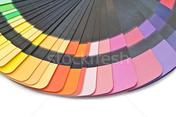 Cor guiá espectro arco-íris branco Foto stock © inxti