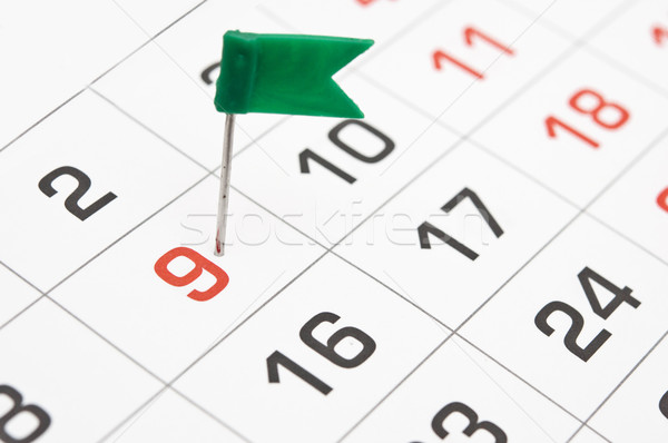 Appointments marked on the calendar at 9. Stock photo © inxti