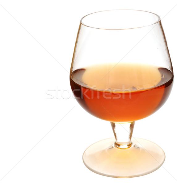 Vidro conhaque branco beber álcool Foto stock © inxti