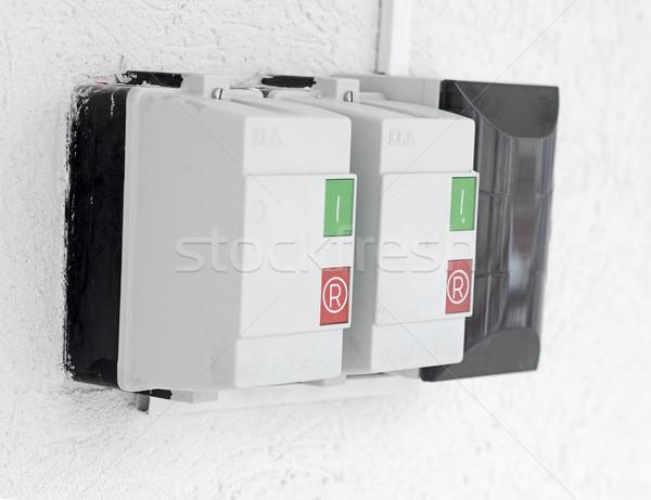 Electric control panel.  Stock photo © inxti