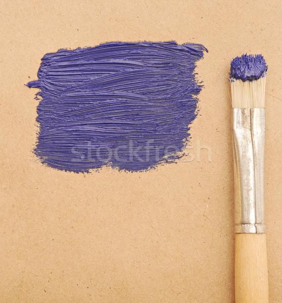 кистью синий пространстве текста дизайна краской Сток-фото © inxti