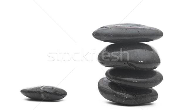 Equilibrata pietre isolato bianco zen Foto d'archivio © inxti