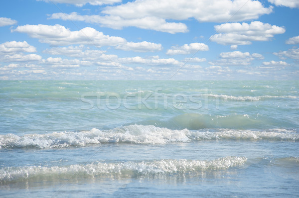 Beautiful sea and clouds sky Stock photo © inxti