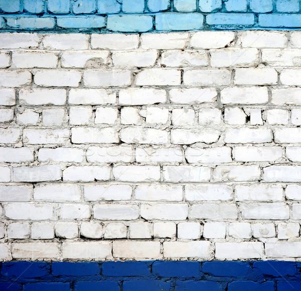 Stock photo: A white brick wall