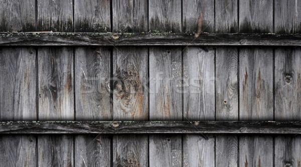Fragment oude houten hek huis textuur Stockfoto © inxti