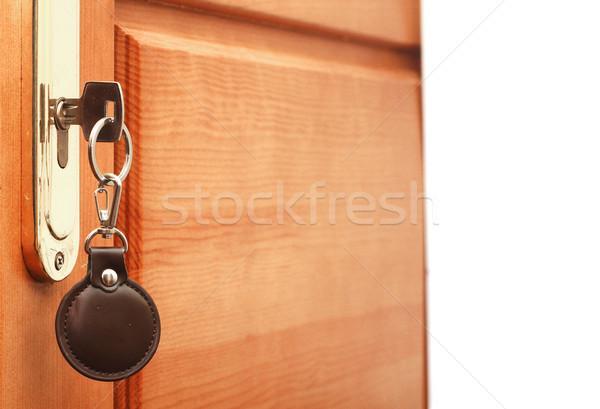 Anahtar anahtar deliği etiket bo metin ofis Stok fotoğraf © inxti