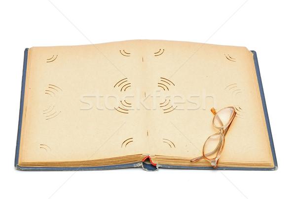 Eski fotoğrafçılık albüm kağıt dokusu arka plan mektup Stok fotoğraf © inxti