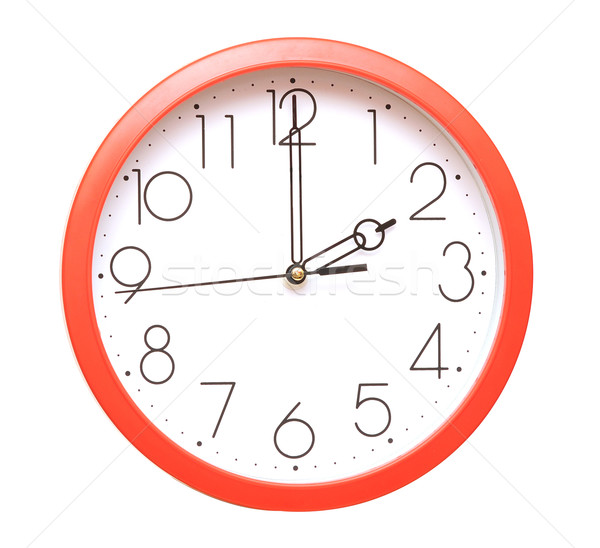 red wall clock Stock photo © inxti