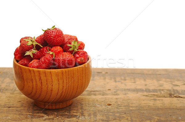 Red strawberries on old wood table  Stock photo © inxti
