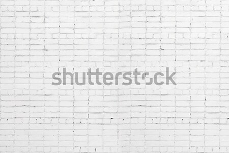 A white roughly textured brick wall painted with white paint Stock photo © inxti