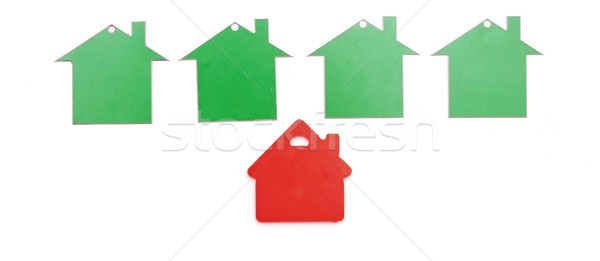 Stock photo: real estate sign isolated on white background.