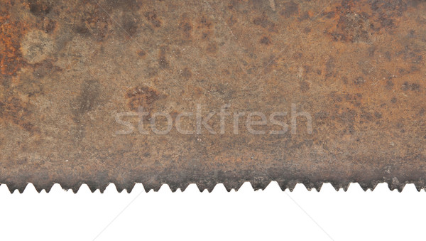 Teeth of old handsaw on white background Stock photo © inxti