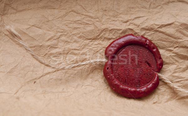 Vintage blank red wax seal Stock photo © inxti