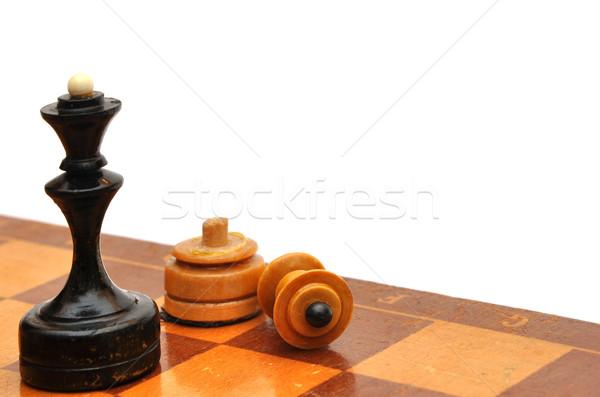 Sakkfigura izolált fehér üzlet iroda csoport Stock fotó © inxti