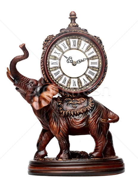 antique wooden elephant isolated over white  Stock photo © inxti