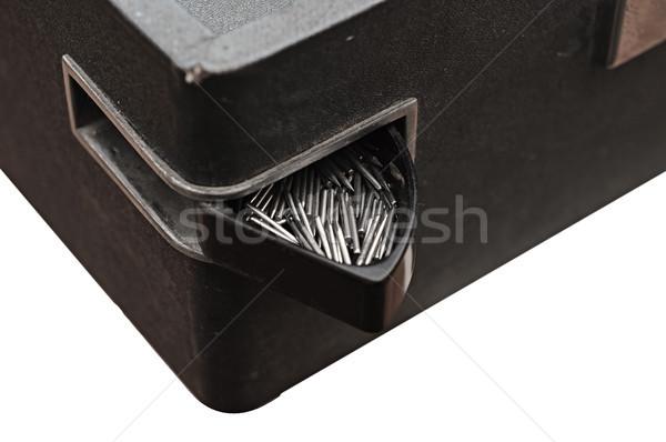 Cuadro edad gramófono tocadiscos agujas vintage Foto stock © inxti