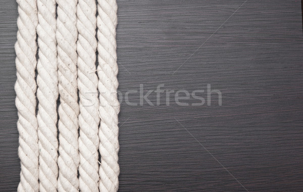 ship ropes borders on black background texture Stock photo © inxti