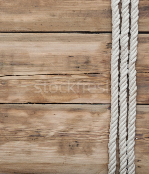 ship ropes on wooden background  Stock photo © inxti