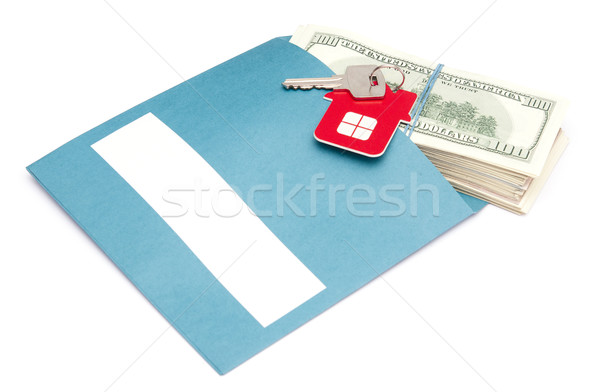 money in envelope with key  Stock photo © inxti