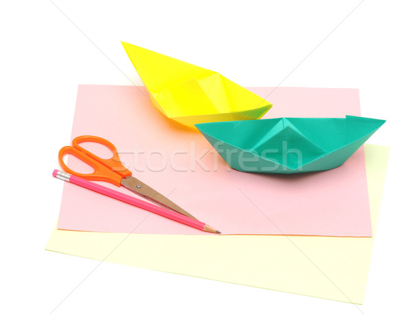 paper boats Stock photo © inxti